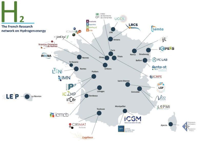 carte des laboratoires de la FRH2